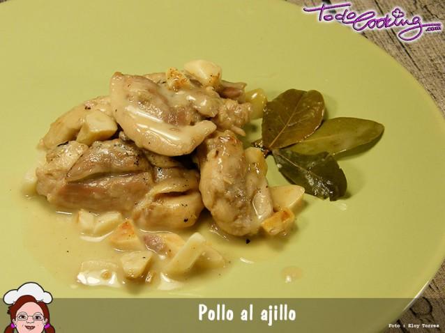 Pollo Al Ajillo. Receta Tradicional Y Sencilla