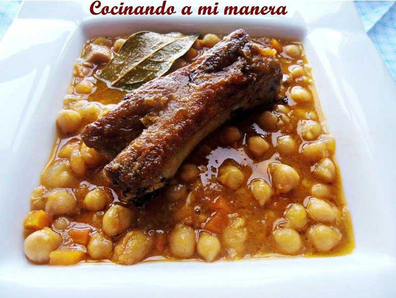 10 platos de cuchara con legumbres parte ii - Garbanzos con costillas ...