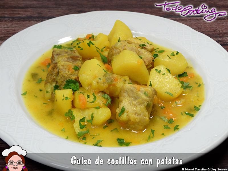 Guiso de costillas de cerdo con patatas - Patatas con costillas de cerdo ...
