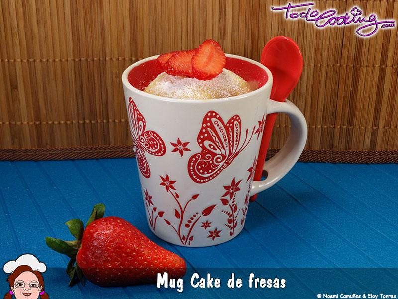 Mug Cake Fresas