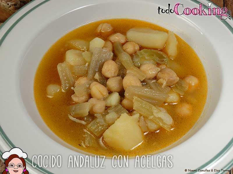 Cocido andaluz tradicional en olla expr s - Cocido de garbanzos en olla express ...