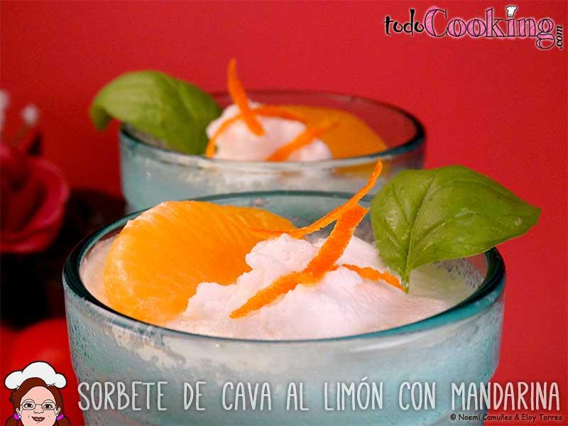 Sorbete de cava al lim n con mandarina sin az car - Sorbete limon al cava ...