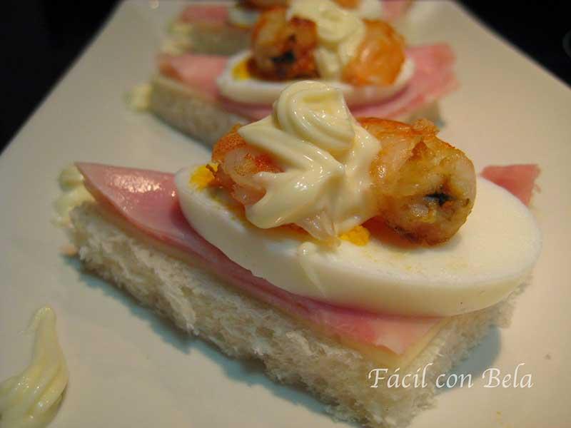 ##Canapé-de-Jamón,-Queso,-Huevo-y-Langostino