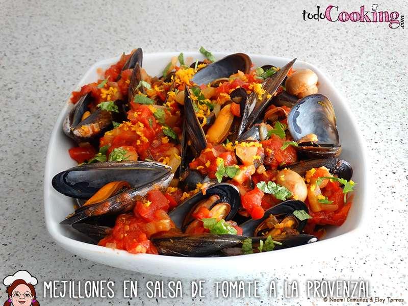 Mejillones en salsa de tomate a la provenzal para for Cocinar mejillones en salsa