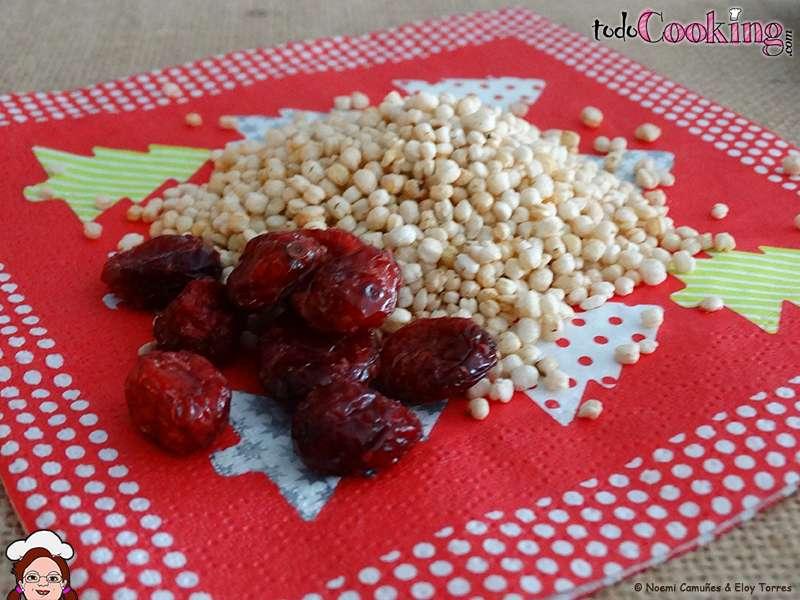 Turr n de chocolate negro quinoa y ar ndanos rojos for Cocinar quinoa hinchada