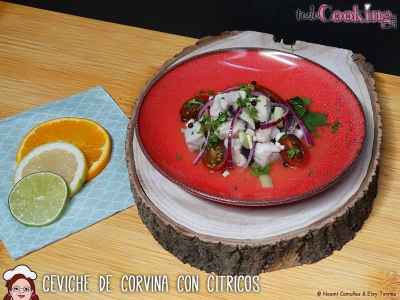 Ceviche de Corvina con citricos