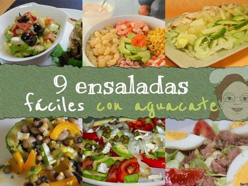 9 ensaladas fáciles y ricas con aguacate