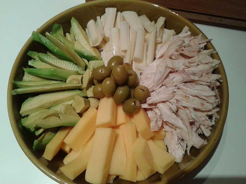 Ensalada de palta (aguacate) y pollo - ensaladas fáciles y ricas con aguacate