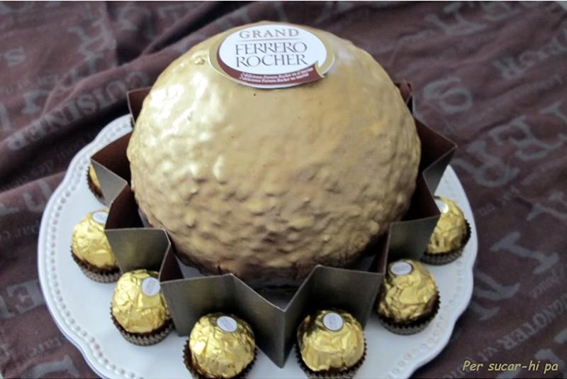Tarta Ferrero Rocher