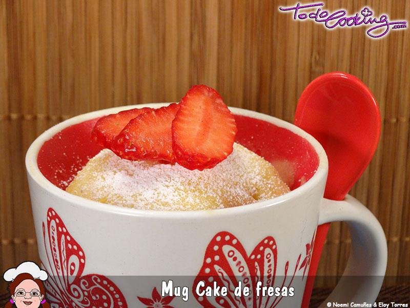 Mug Cake de fresas