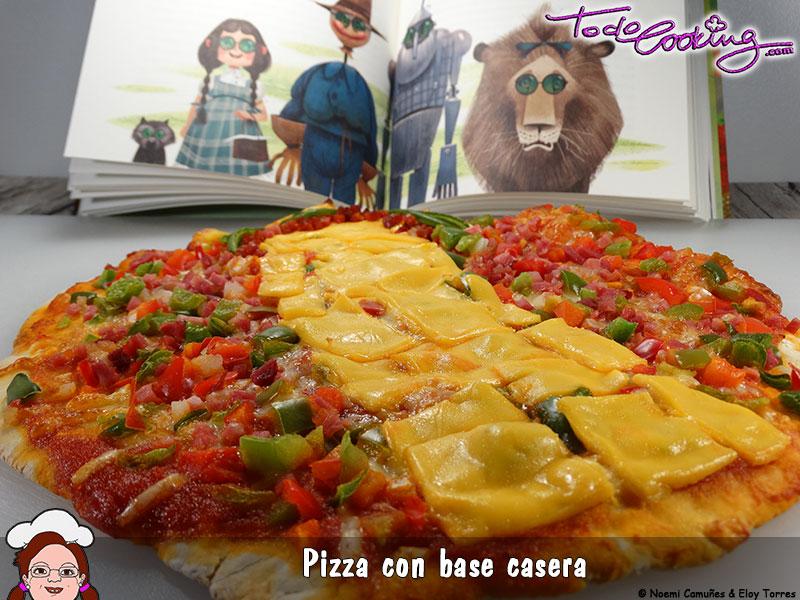 Pizza con masa casera