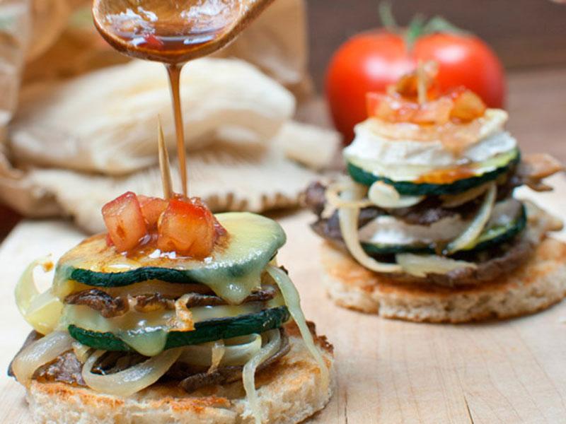 Montaditos de calabacín recetas para un menú de semana santa