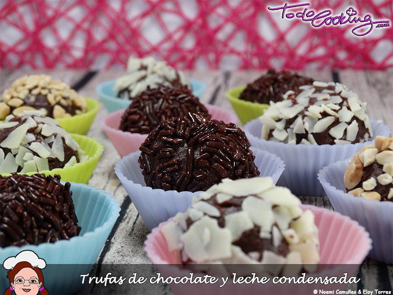 Trufas de chocolate y leche condensada
