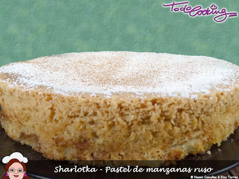 Sharlotka---Pastel-de-manzanas-ruso2