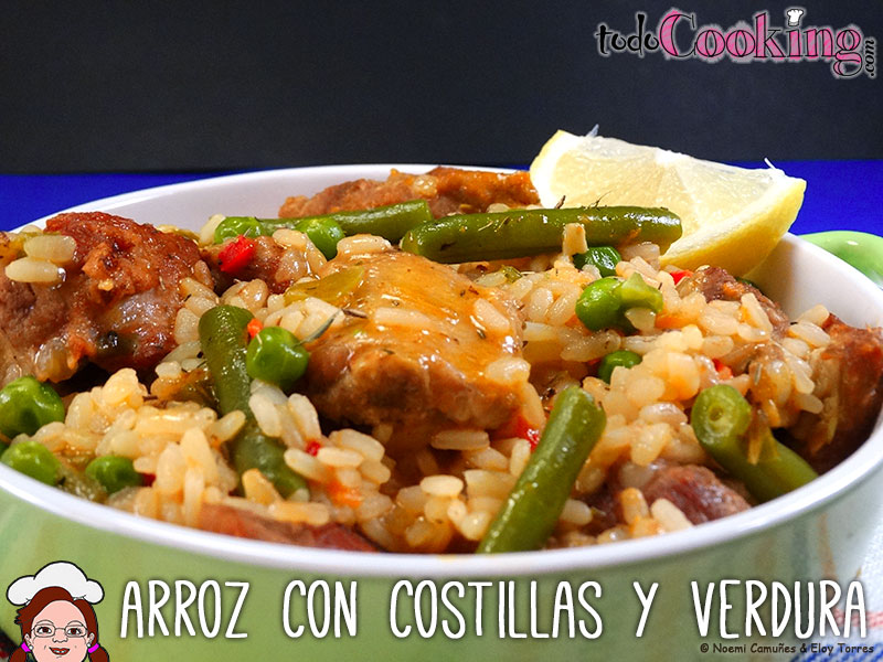 Arroz con costillas y verduras