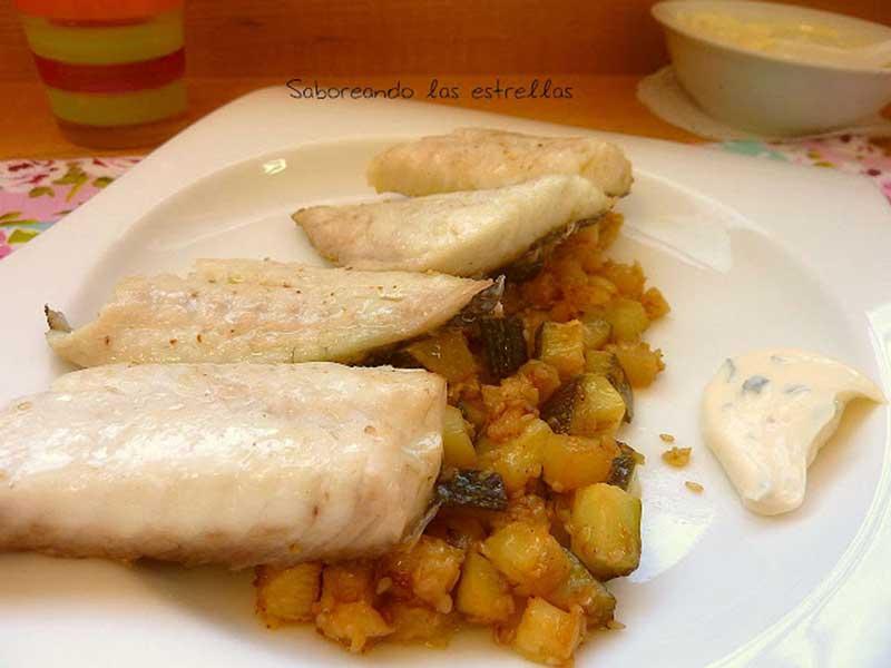 ##Dorada-con-calabacín-a-la-menta-y-limón pescados y marisco