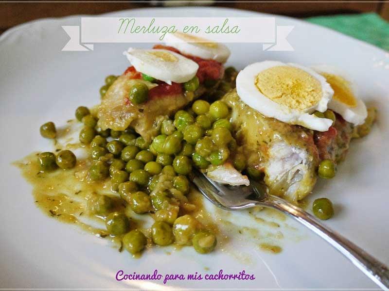 ##Merluza-en-salsa pescados y marisco