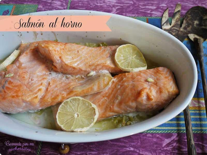 ##salmon-al-horno pescado y marisco