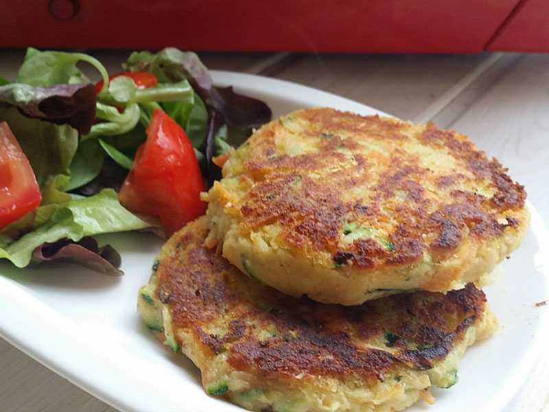 hamburguesas-de-calabacin-y-zanahoria verduras y hortalizas
