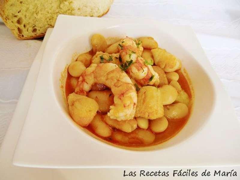 ##Fabes con rape y langostinos recetas con legumbres