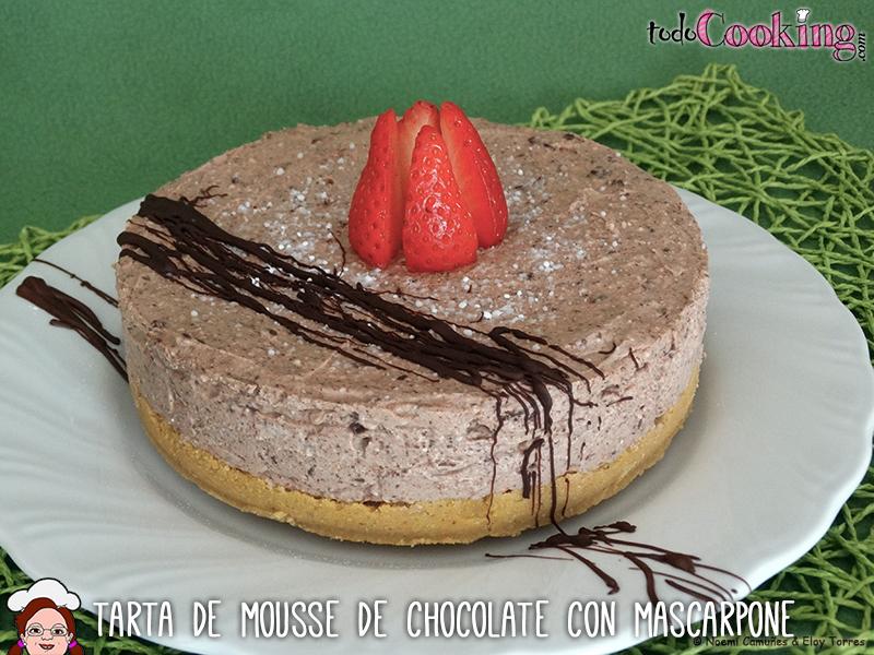 Tarta de mousse de chocolate con mascarpone
