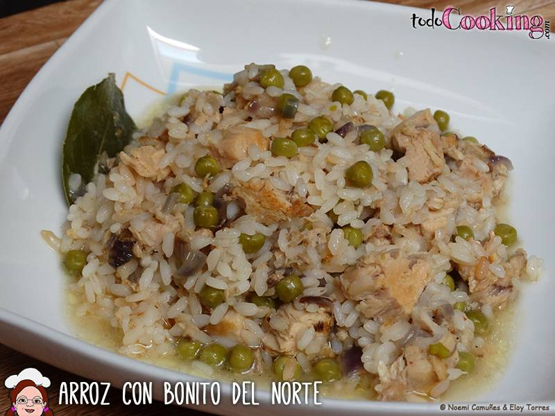 arroz con bonito del norte en sart n receta f cil y r pida