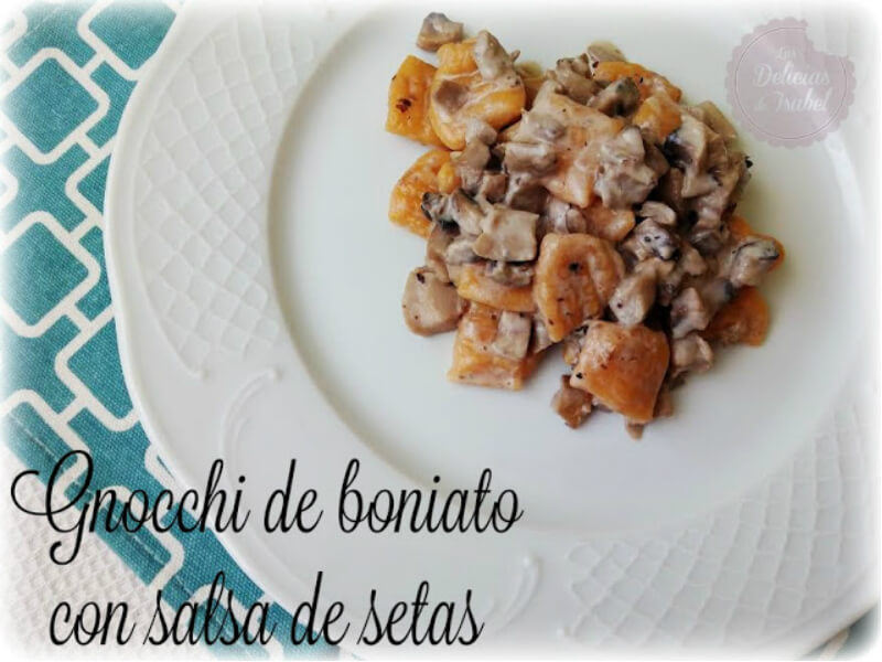##Gnocchi de boniato con salsa de setas
